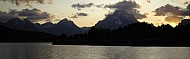 Grand Teton National Park.  Oxbow Bend at sunset.